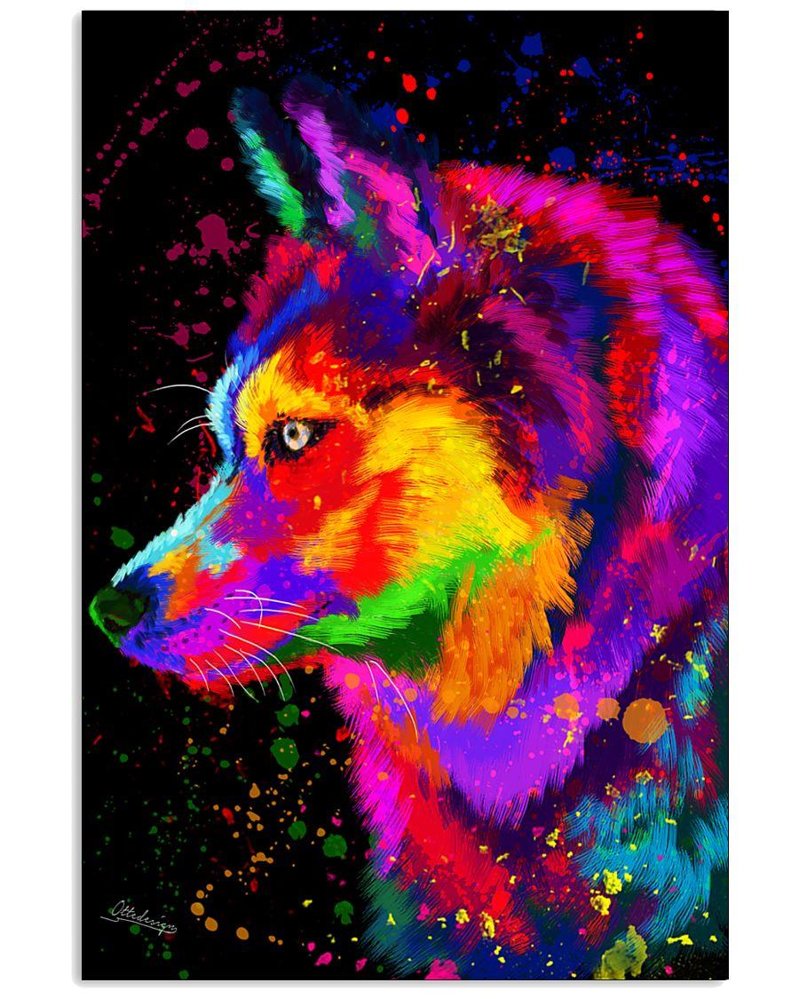 Husky Water Color Art DF1 11x17 Poster