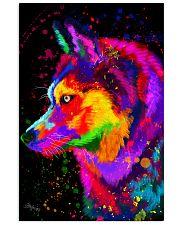 Husky Water Color Art DF1 11x17 Poster front