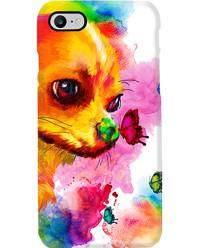 Chihuahua Buterfly Water Color Phone Case