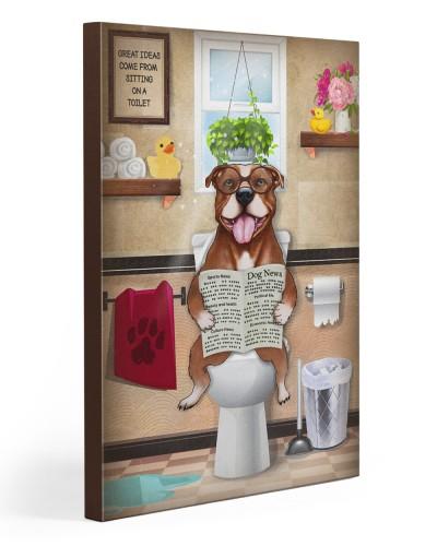 Pitbull toilet