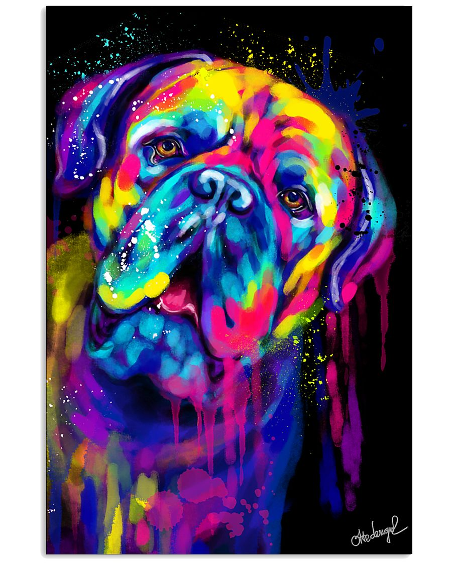 Dogue Water Color  16x24 Poster