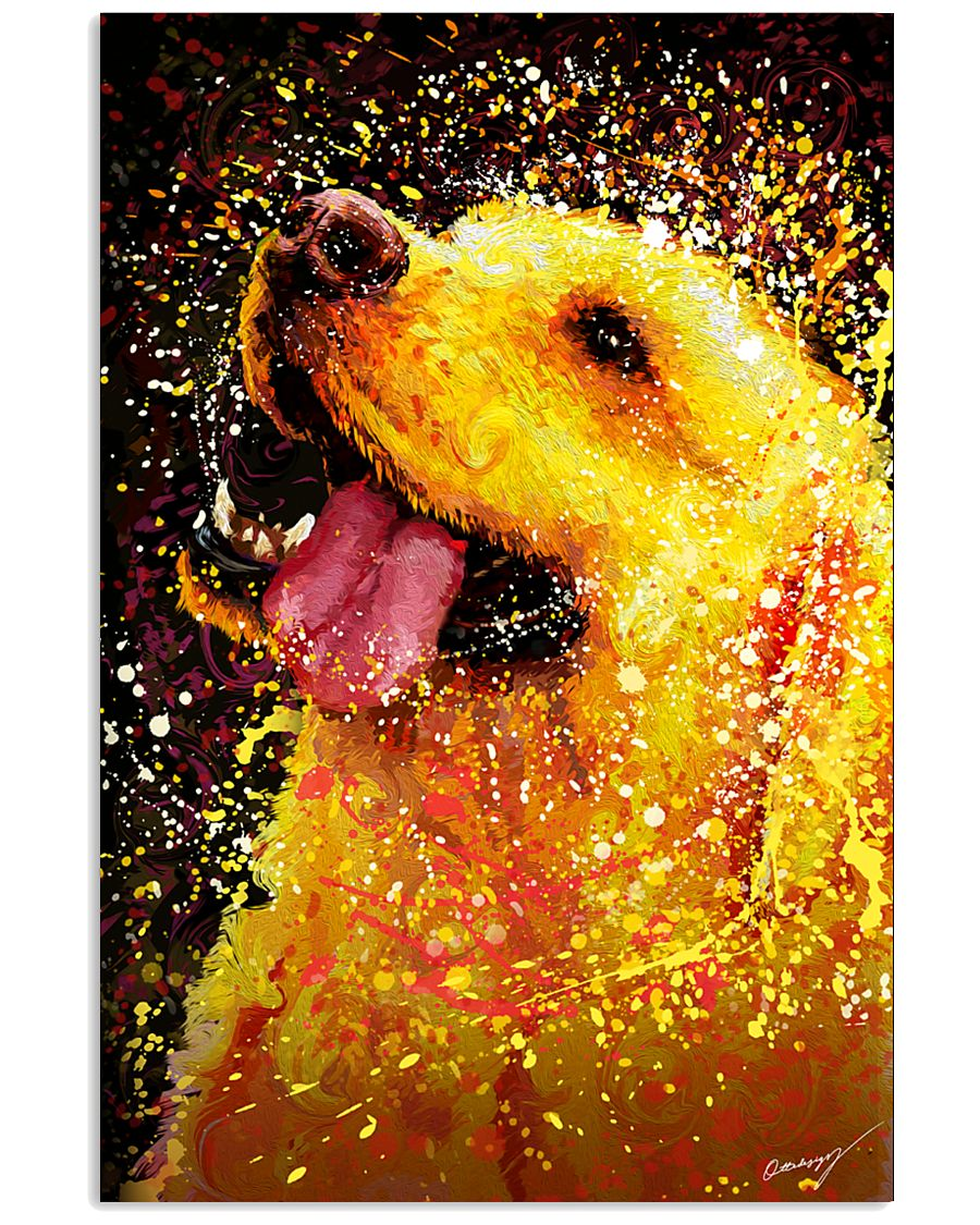 Labrador Water Color Art Happy Face 24x36 Poster