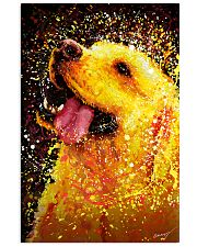 Labrador Water Color Art Happy Face 24x36 Poster front