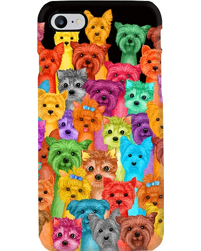 Multi Yorkie Phone Case