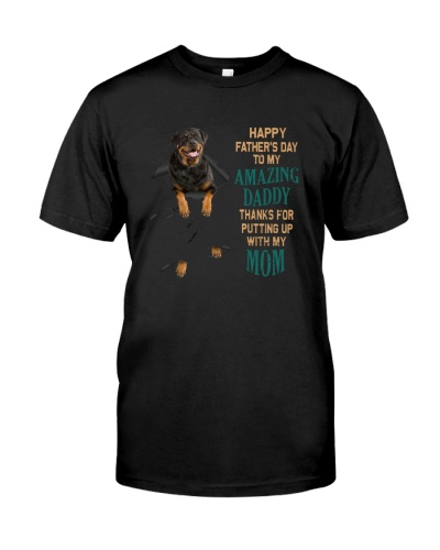 Rottweiler Happy father's day to amazing daddy