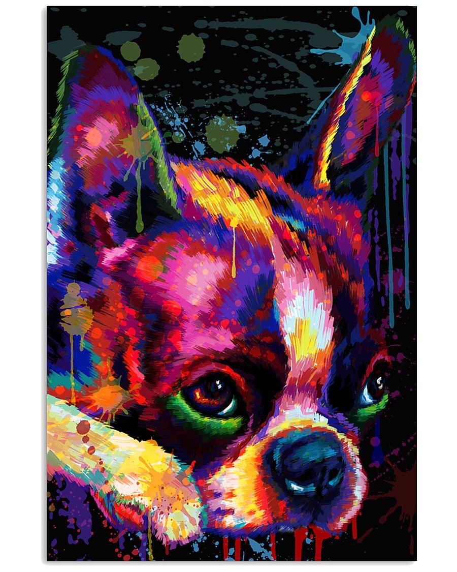 Boston Terrier Poster Face Art 11x17 Poster