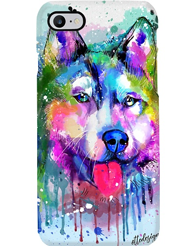Husky Water Color Phone Case
