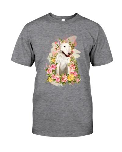 Bull Terrier Flowers