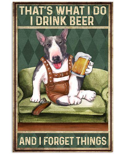 Bull Terrier I drink beer