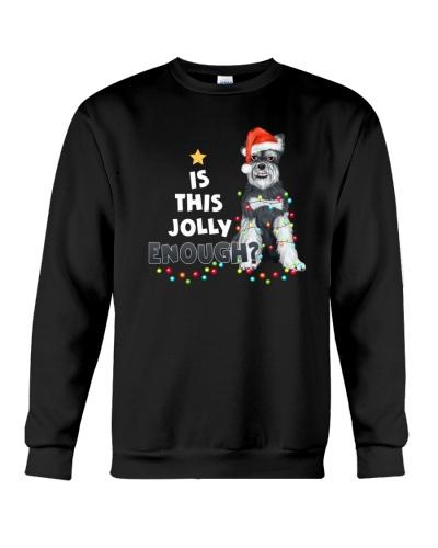 Schnauzer jolly christmas gift