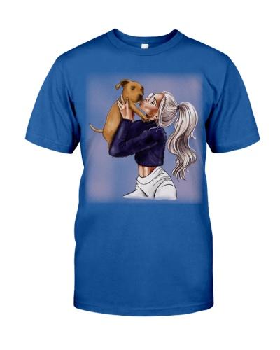 Pitbull Dog And Girl