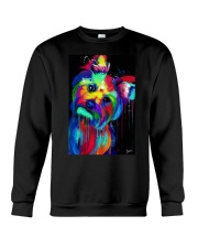 Yorkie Poster colorful painting Crewneck Sweatshirt thumbnail