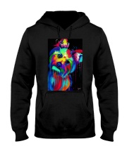 Yorkie Poster colorful painting Hooded Sweatshirt thumbnail