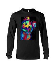 Yorkie Poster colorful painting Long Sleeve Tee thumbnail