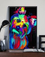 Yorkie Poster colorful painting 11x17 Poster lifestyle-poster-2