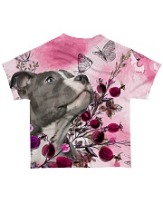 Staffordshire Dog Flowers All-over T-Shirt back