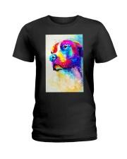 PITBULL POSTER COLORFUL Ladies T-Shirt thumbnail