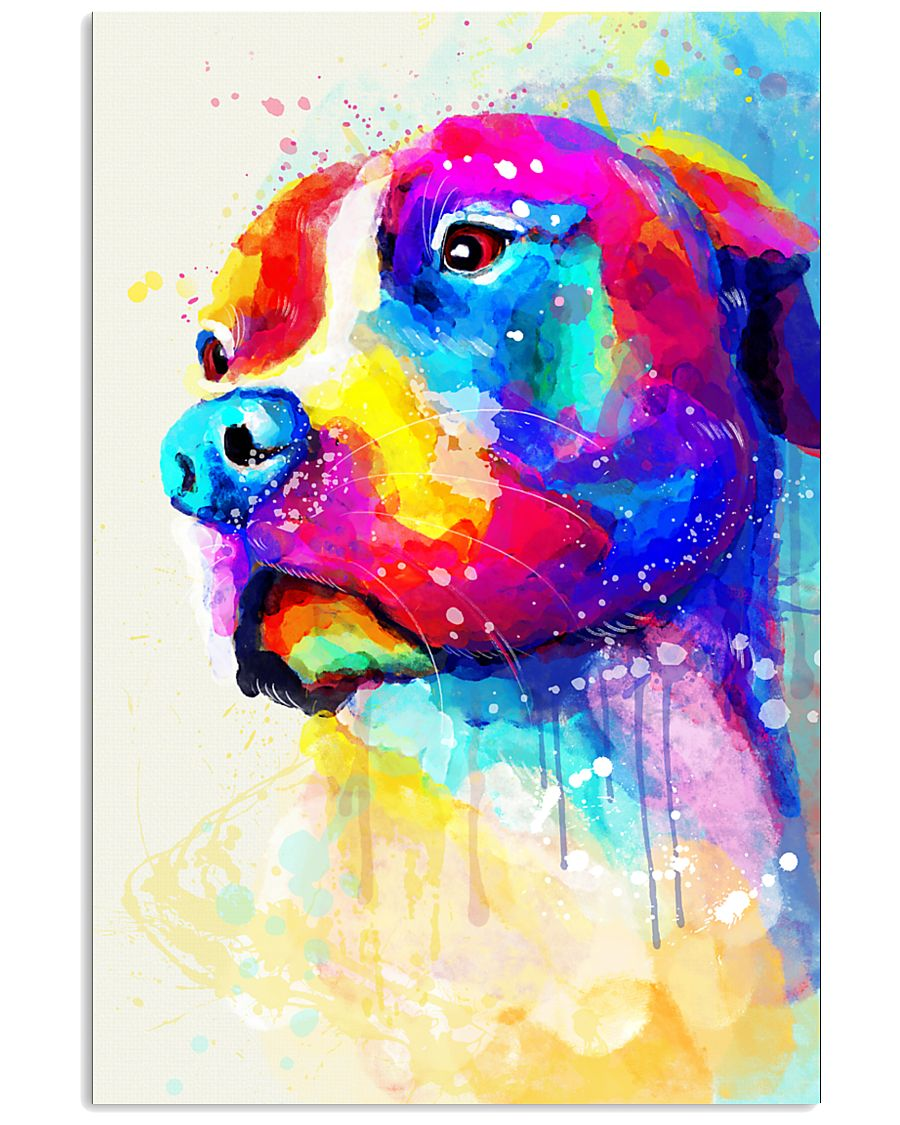 PITBULL POSTER COLORFUL 11x17 Poster