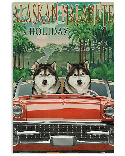 Alaskan Malamute Holiday