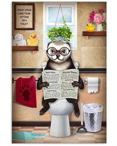 Ferret Toilet Funny Poster