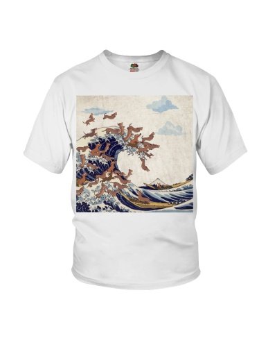 Dachshund Great Wave