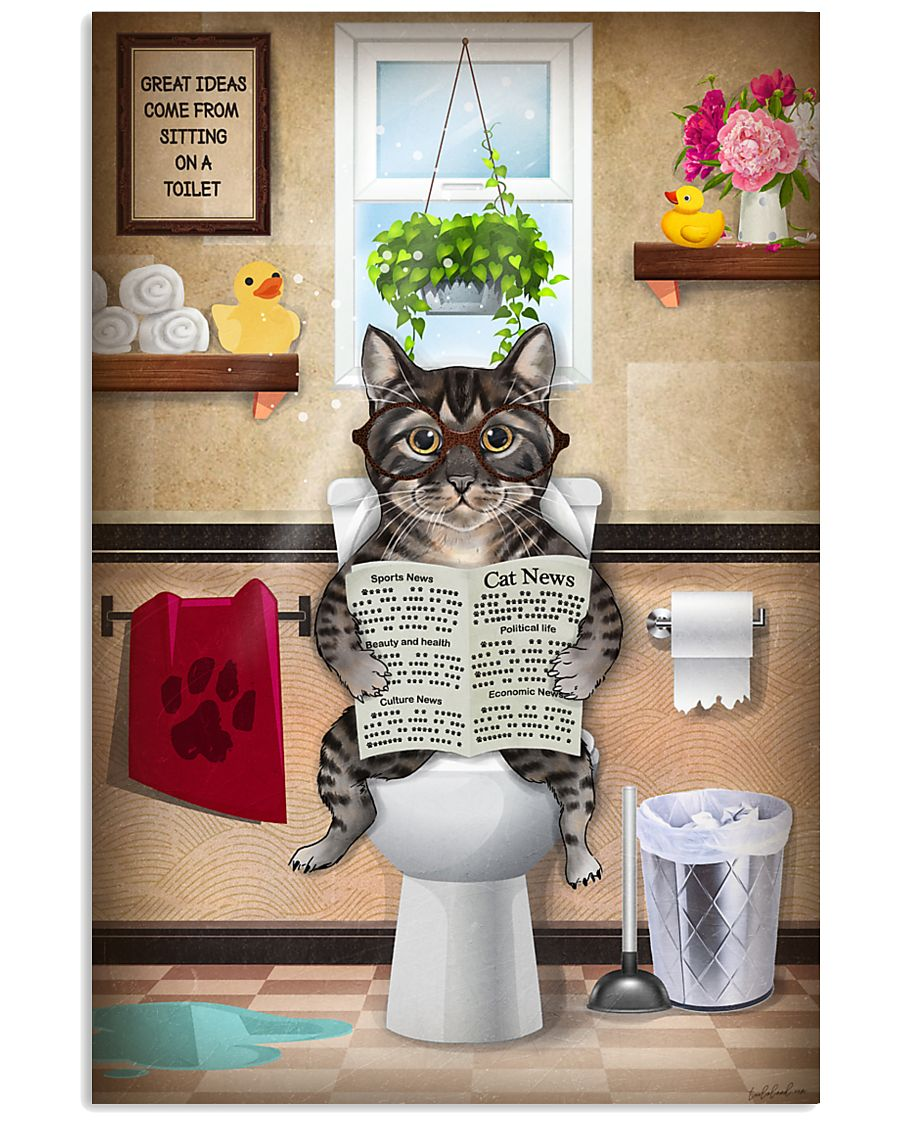 Cat Toilet Poster 11x17 Poster