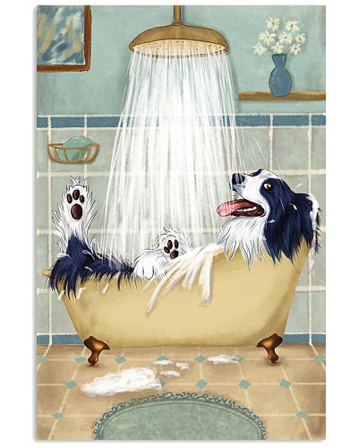 Border Collie Happy Bathroom