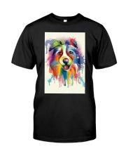 Border Collie Poster Flow Classic T-Shirt thumbnail