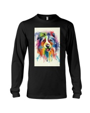 Border Collie Poster Flow Long Sleeve Tee thumbnail
