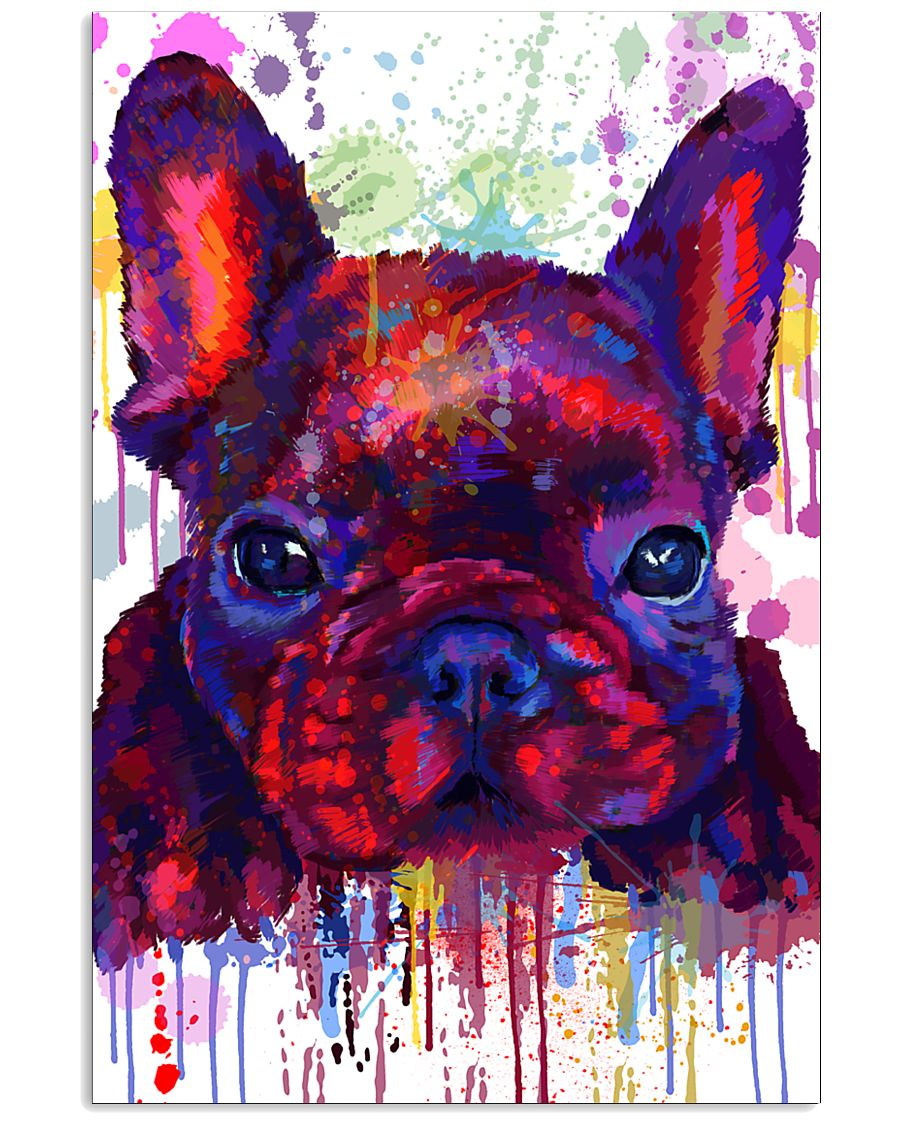 French bulldog Water Color Art Flow G10 11x17 Poster