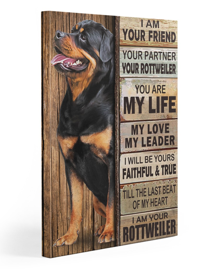 Rottweiler Partner 20x30 Gallery Wrapped Canvas Prints