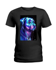 Rottweiler Water color Ladies T-Shirt thumbnail