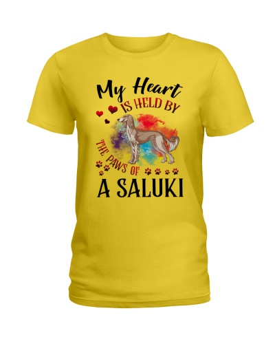 Saluki My heart is held by paws