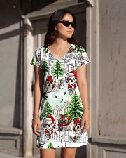 Shih Tzu Christmas  All-over Dress aos-dress-front-lifestyle-1