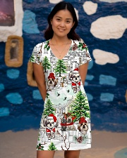 Shih Tzu Christmas  All-over Dress aos-dress-front-lifestyle-2