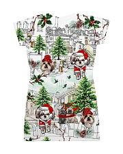 Shih Tzu Christmas  All-over Dress back
