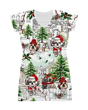Shih Tzu Christmas  All-over Dress front