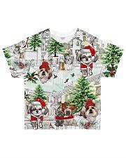 Shih Tzu Christmas  All-over T-Shirt thumbnail