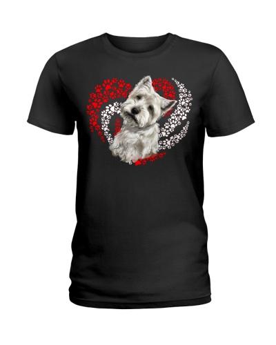 Westie Dog Heart