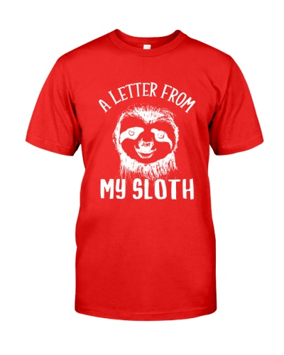 Sloth a letter from