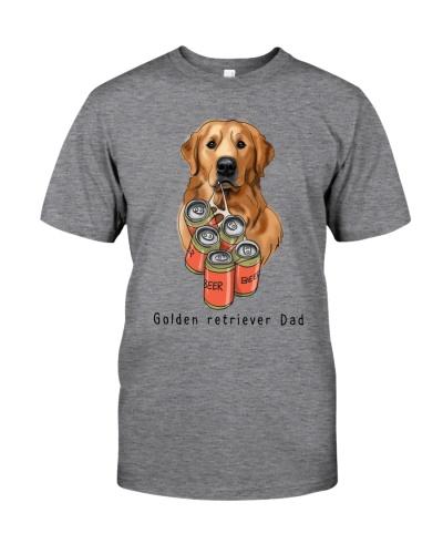 Golden retriever beer dad