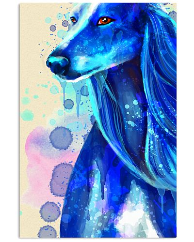 Saluki blue watercolor