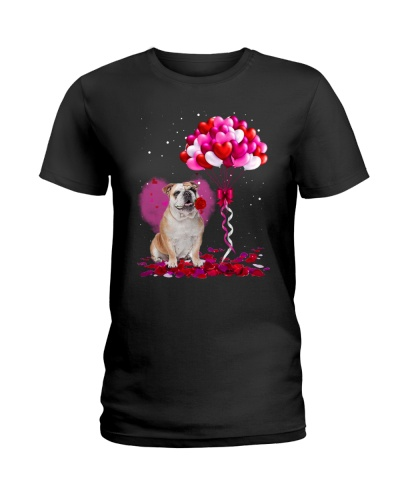 Bulldog Valentine Balloon