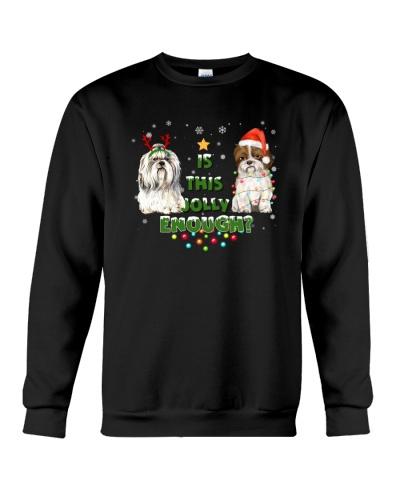 shih tzu jolly christmas gift