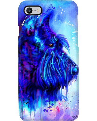Schnauzer Water Color Phone Case