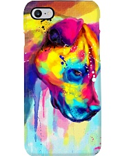 PITBULL COLORFUL POSTER Phone Case tile