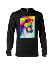 PITBULL COLORFUL POSTER Long Sleeve Tee tile