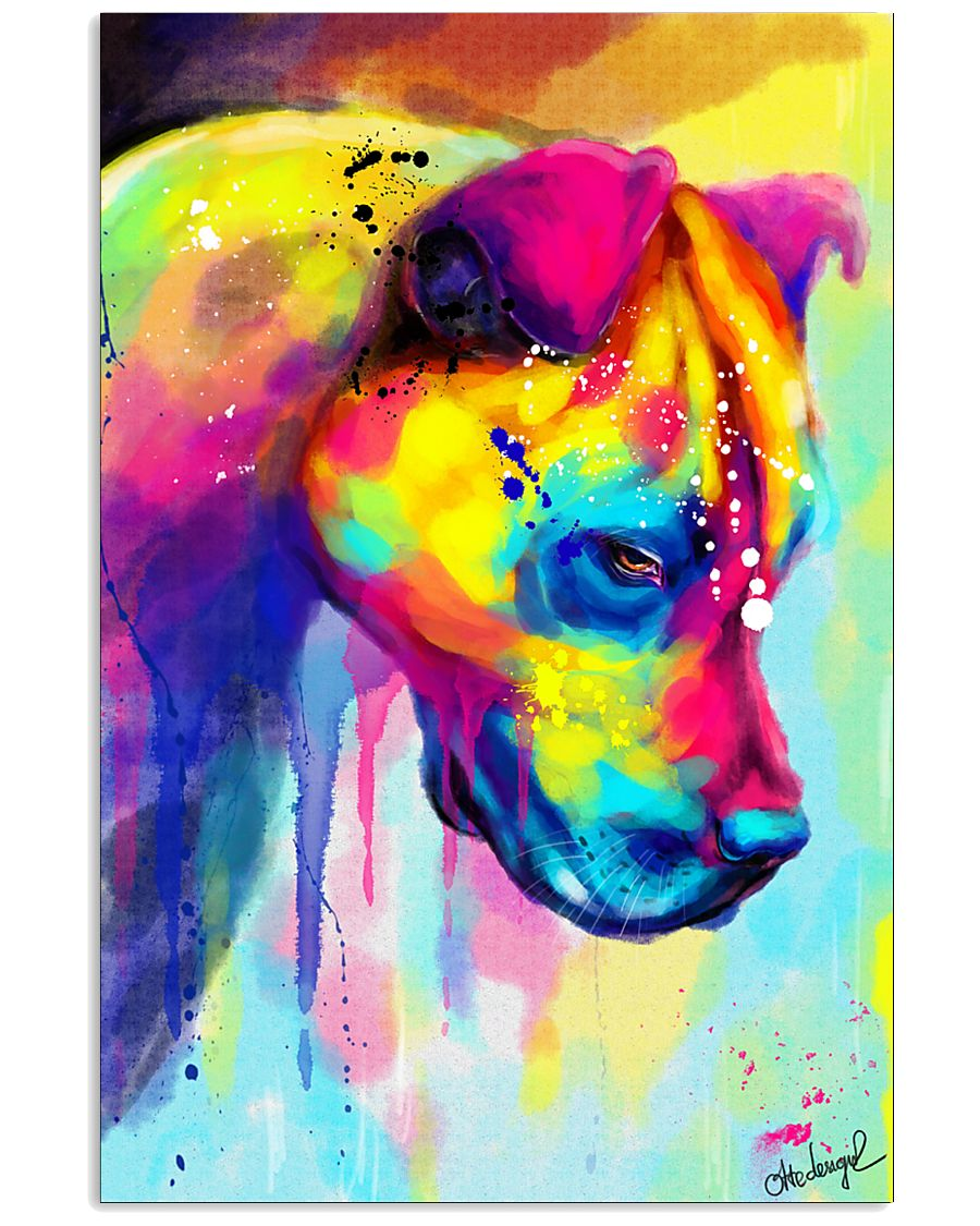 PITBULL COLORFUL POSTER 11x17 Poster