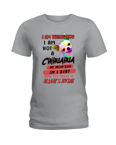 Cute chihuahua mom slogen shirt