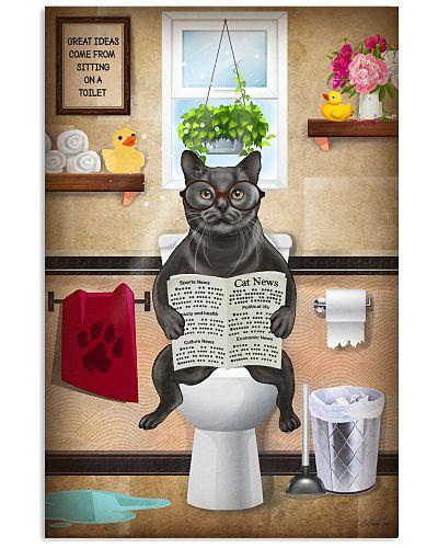 Cat Toilet Poster